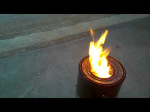 DIY-Forced Air Wood Gas Stove - Flame Control