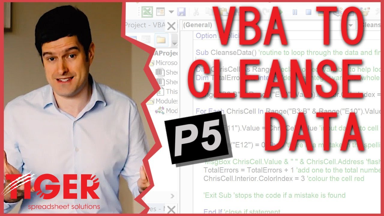Excel VBA for Beginners - Use Excel VBA to Cleanse a Dataset - Tiger