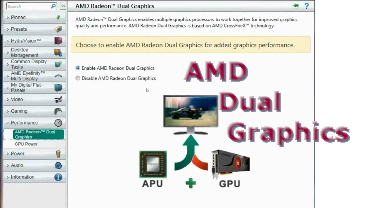 AMD Dual Graphics Settings