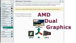 AMD Dual Graphics - How to set up - Complete Tutorial - Catalyst Control Center