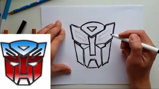 How to draw Transformer Autobot Logo | Real Time