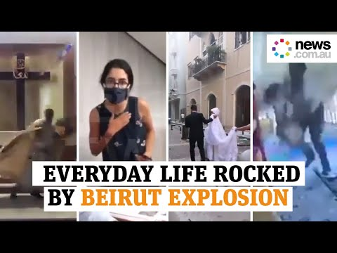 Beirut blast: Heart-stopping moments of everyday life rocked by the explosion