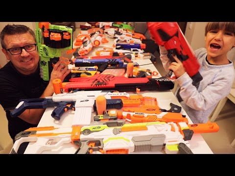Family Nerf Fun War - Our Collection of Nerf Toys Guns