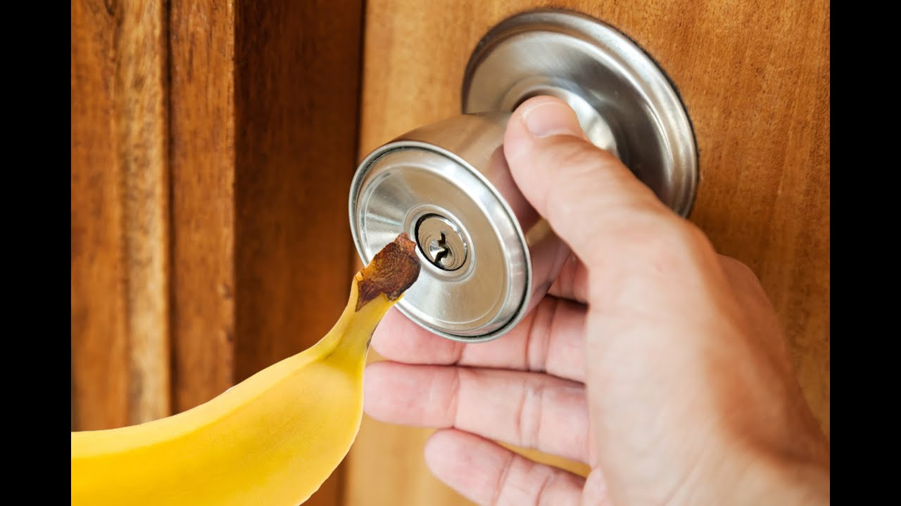 how to manually open a garage doorHow To Open a Locked Door With a Banana  YouTube
