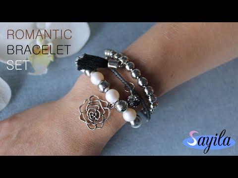 Making jewelry - Romantic bracelet set (DIY Tutorial by Sayila)