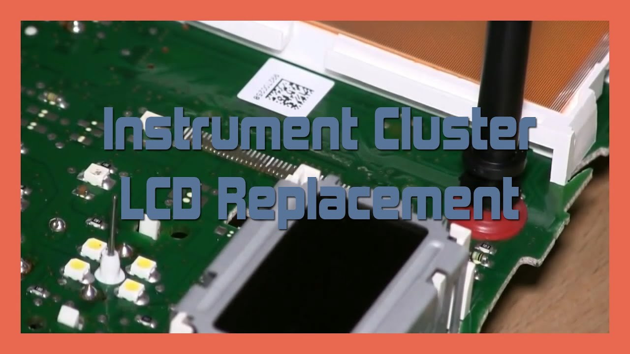 Instrument Cluster Lcd Replacement Audi A4 S4 B5 1999 2002