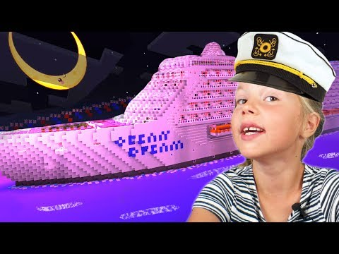 WORLD'S BIGGEST CRUISE SHIP in Minecraft! Cruise [Day 1] ❑ M