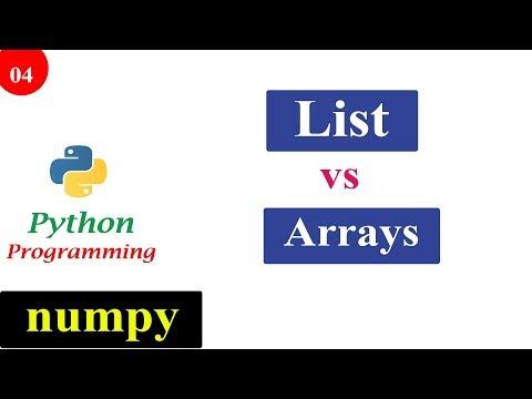 NumPy Tutorials - List vs NumPy Array | Python Programming thumbnail