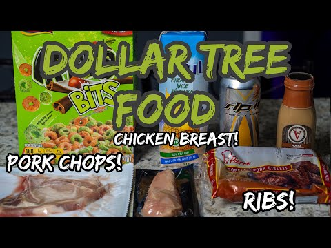 Trying DOLLAR TREE Food | Chicken Breast. Ribs. Pork Chops. Iced Coffee. Energy Drinks