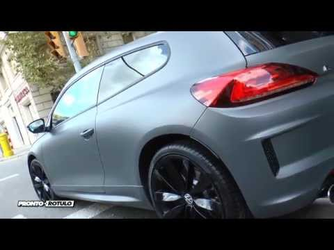 Volskwagen Scirocco R en Gris Antracita Mate Metalizado - Car Wrapping by Pronto Rotulo