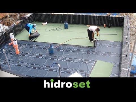 Flat roof installation - waterproofing detail