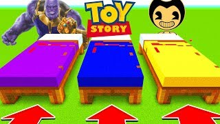 Minecraft : DO NOT CHOOSE THE WRONG BED (THANOS, TOYSTORY, BENDY)(Ps3/Xbox360/PS4/XboxOne/PE/MCPE)