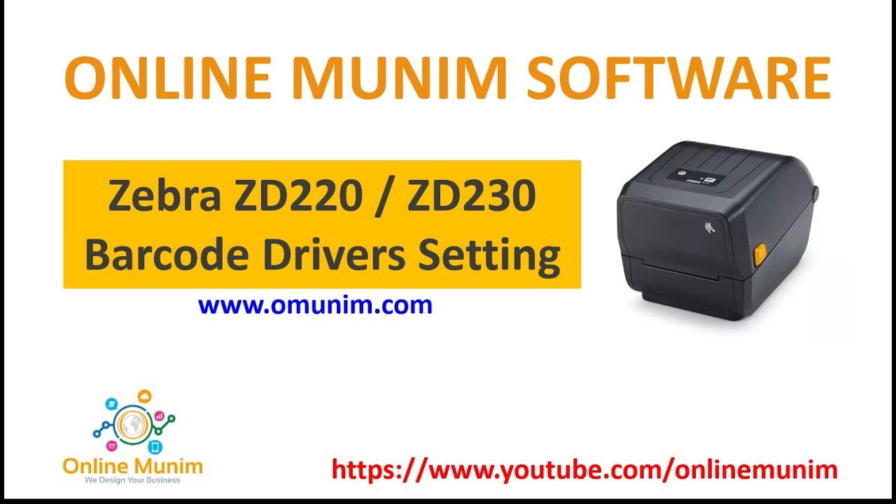 Zebra Zd220 Barcode Printer Drivers Setting Thermal Transfer Printer Zebra Zd220 Zpl 203 Dpi Youtube
