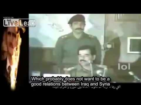 Saddam Hussein speaks about the betrayal of Assad regime (english subtitles)