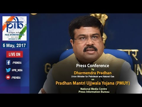 Press Conference by Union MinisterDharmendra Pradhan on Key Initiatives during 3 Years of Govt.