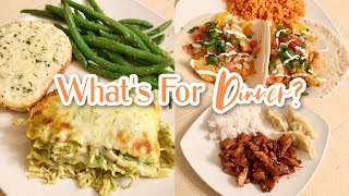 What&#39s For Dinner?  Easy Budget Friendly Family Meal Ideas &amp Recipes  Cook With Me!!