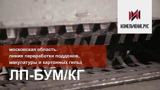 Moskva oblast  Line sxemasidan, chiqindi qog'oz va karton yadrolari qayta ishlash PL-BOOM /KG