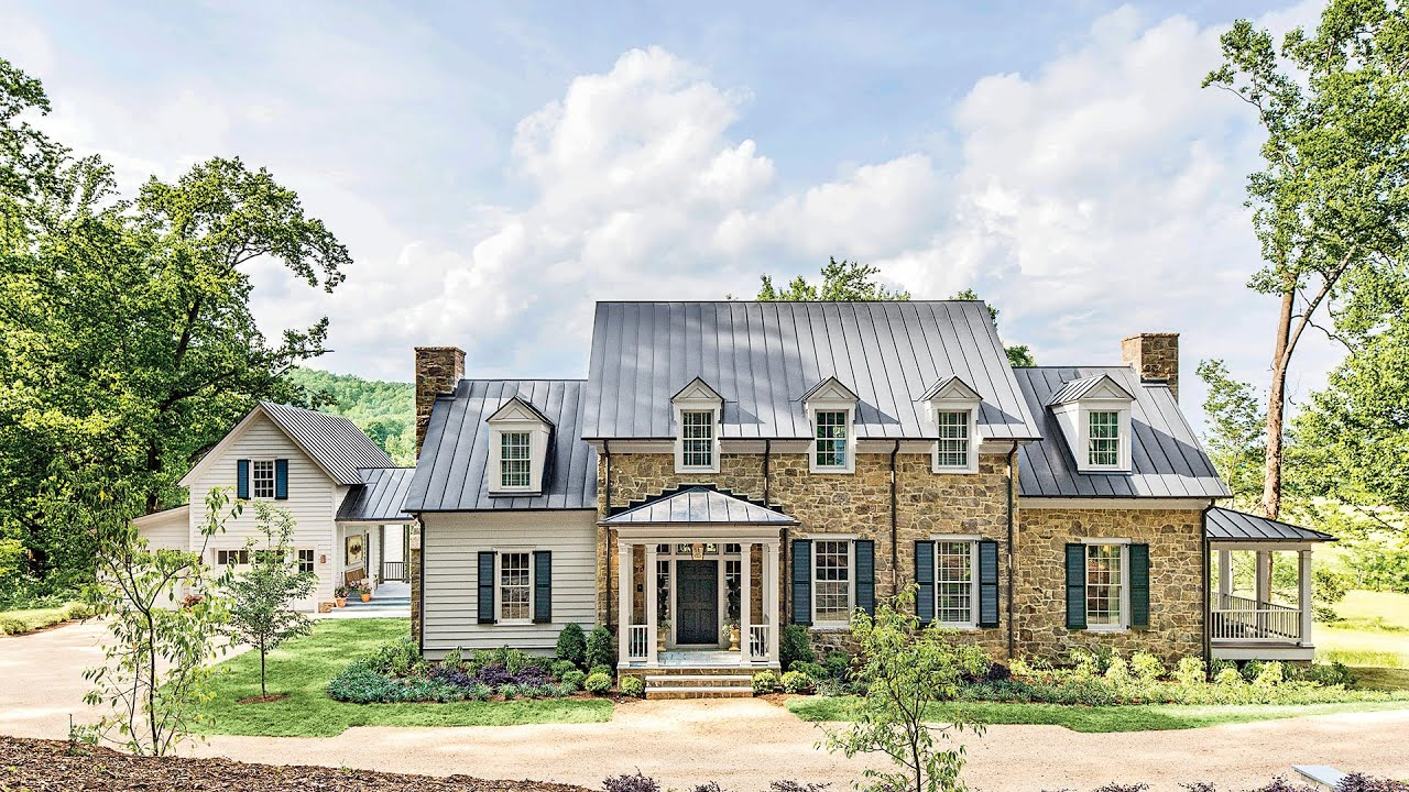 Southern living house plans farmhouse revival for Living house