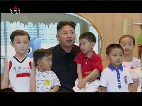 Kim Jong Un And His Wife Ri Sol Ju Visit Kindergarten (July 2012)