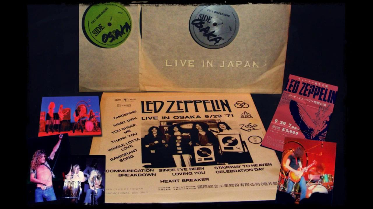 Led Zeppelin live in Osaka September 29th 1971 Full Concert