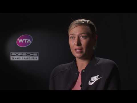 Interview Maria Sharapova (RUS) quarter finals - Porsche Tennis Grand Prix 2017