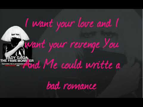 Lady GaGa Bad Romance with Lyrics