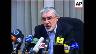 WRAP Mousavi declares victory; ADDS Head of election affairs gives partial results