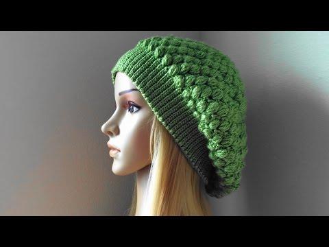 bdbb0b18fda244 How To Crochet A Puff Stitch Hat, Lilu's Handmade Corner Video # 92 -  YouTube