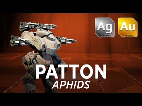 Walking War Robots Patton Gameplay: Aphids