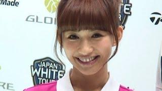 タレントの優木まおみさんが17日、東京ビックサイトで始まった「第46回...