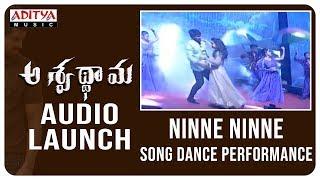 Ninne Ninne Song Performance @ Aswathama Audio Launch Live | Naga Shaurya | Mehreen |