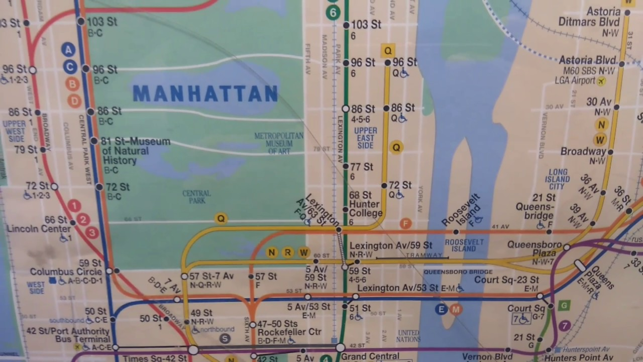 Mta December 2016 Subway Map Featuring The Second Avenue Subway