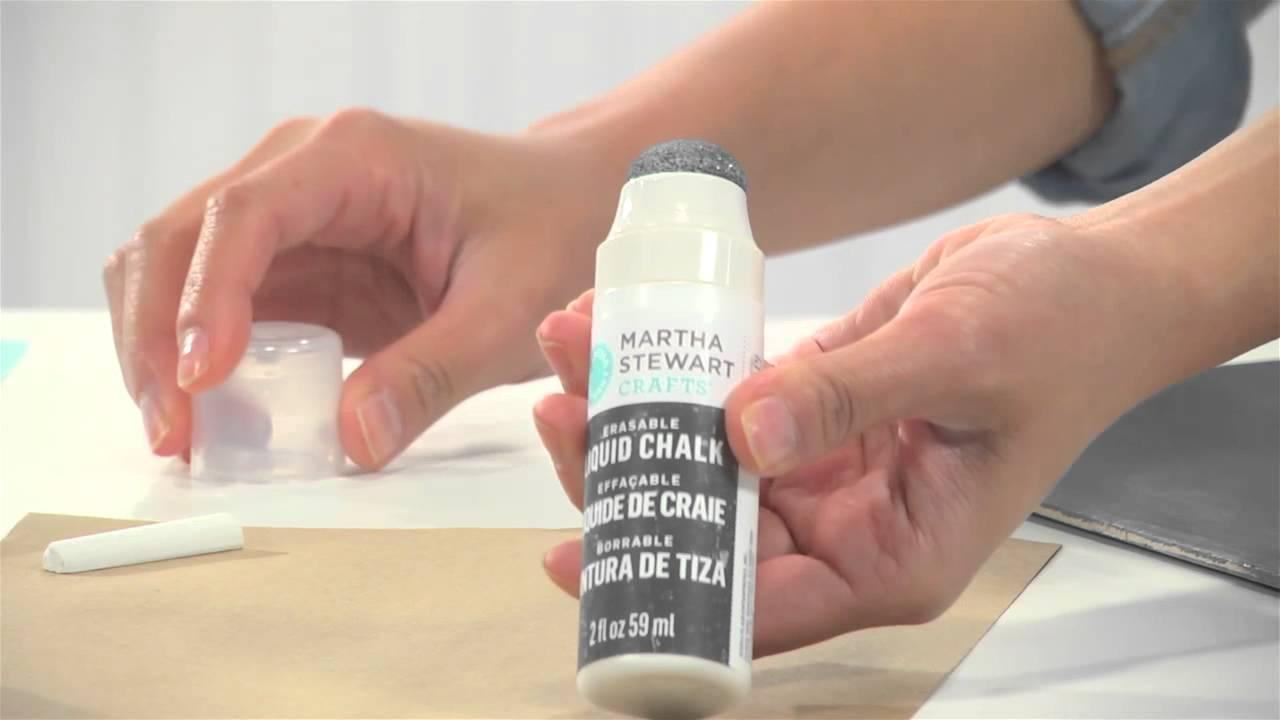 How To Create Chalkboard Art With Martha Stewart Crafts® Chalkboard Paint    YouTube
