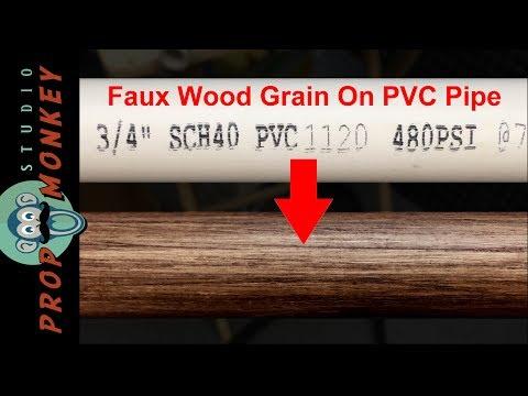 Faux Wood Grain On PVC Pipe