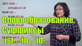 Урок №5_Словообразование. Суффиксы -ist-, -in-, -id-.