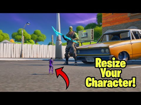 How To Resize Your Character In Fortnite Glitch (Become Tiny Or Giant) Fortnite glitch