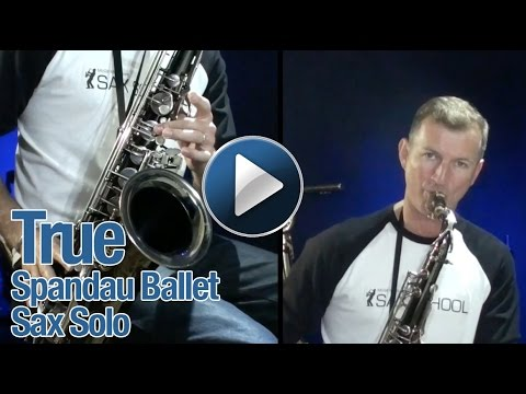 True by Spandau Ballet - Nigel McGill from Sax School plays on tenor saxophone