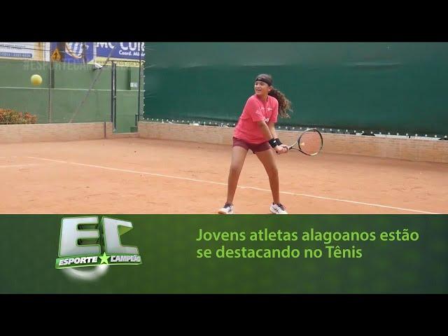 Jovens atletas alagoanos estão se destacando no Tênis
