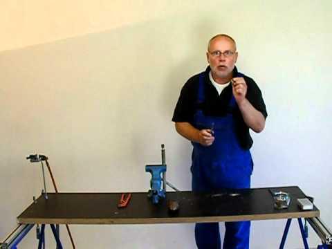 Großartig Bleirohr - Messing - verbinden - weichgelötet - Kelchnaht - YouTube ED29