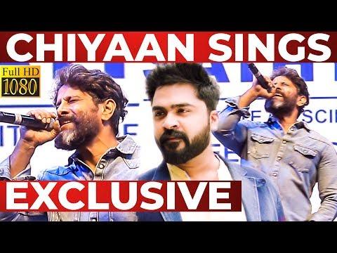 Chiyaan VIKRAM Performs Thalli POGATHEY at Sathyabama University   Part 2