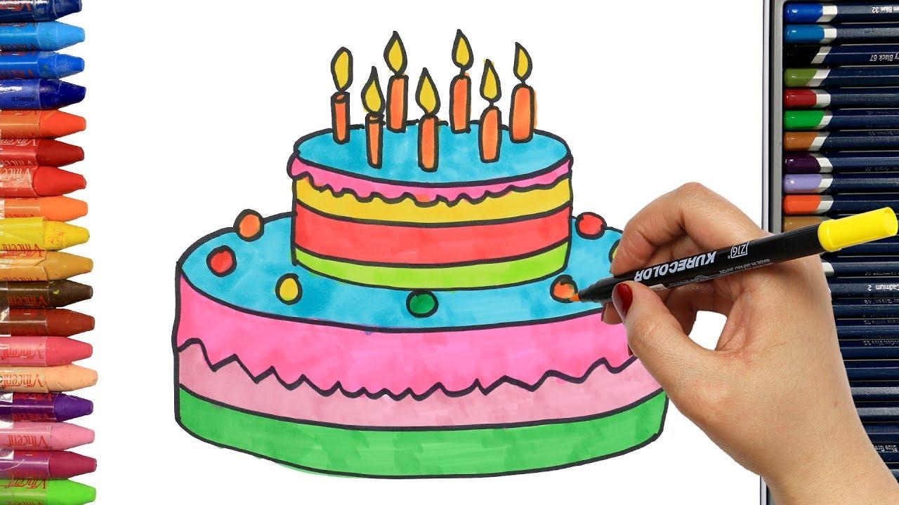 требуется уверенность как нарисовать торт карандашом фото фото