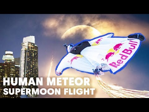 Human Shooting Stars (Wingsuiters) Buzz Downtown Los Angeles Skyline