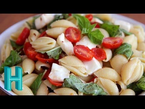 How to Make Caprese Pasta Salad | Hilah Cooking