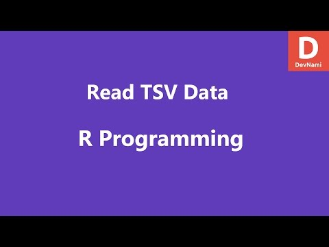 Read TSV Data In R