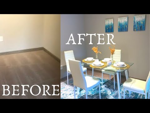 decorate-my-apartment-on-a-budget- -dining-room- -amazon-and-dollar-tree