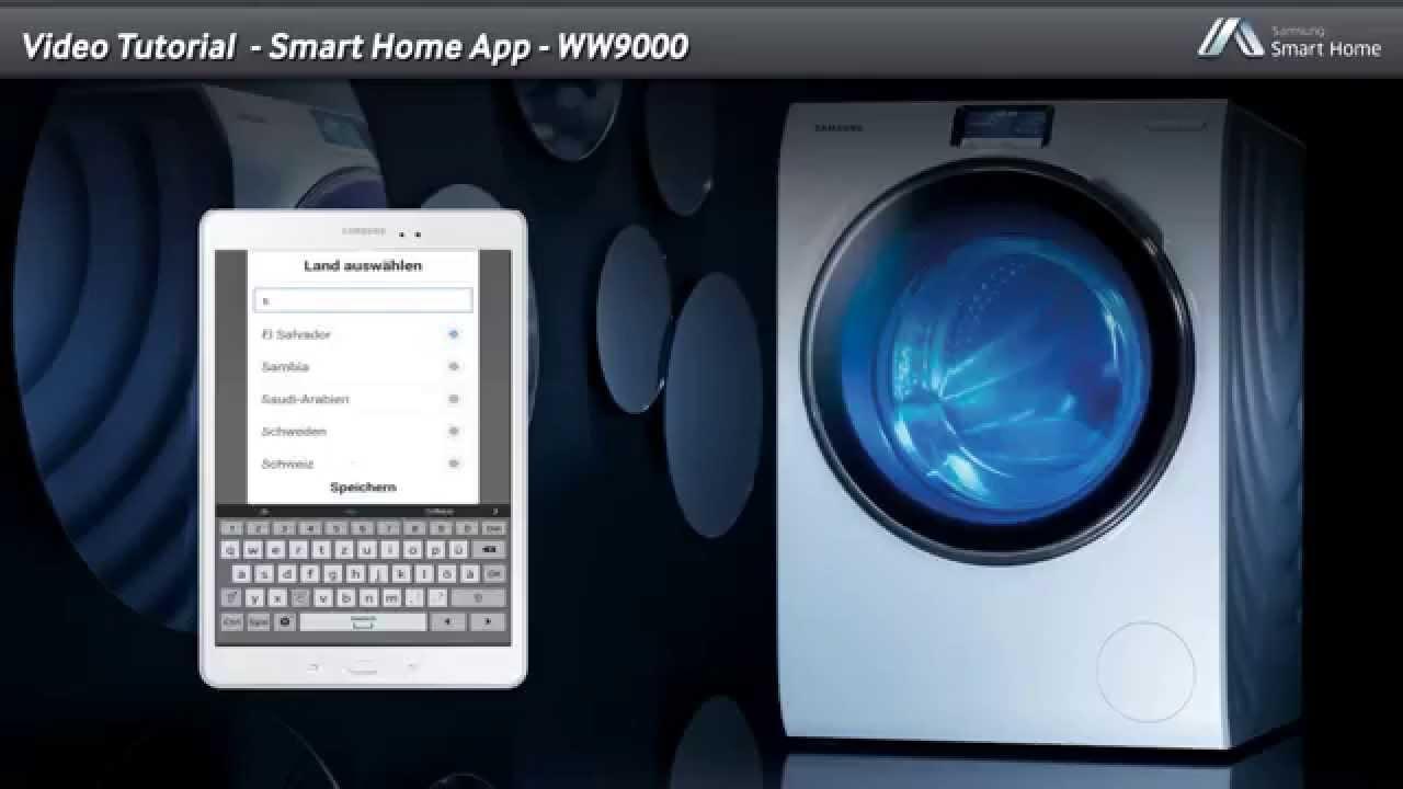 samsung smart home app ww9000 youtube. Black Bedroom Furniture Sets. Home Design Ideas