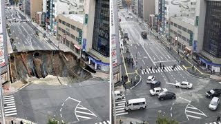 Insane Japan Fix Sink Hole Just In 7 Days Time Laps