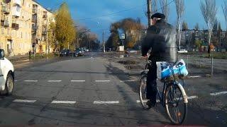Король автострады  - дед велосипедист (Кривой Рог)