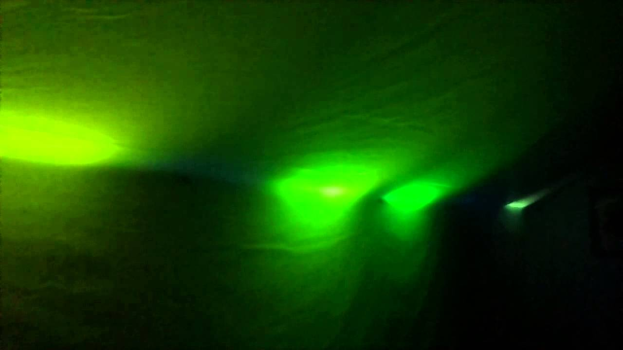 Simulated aurora on my bedroom ceiling using Arduino - YouTube