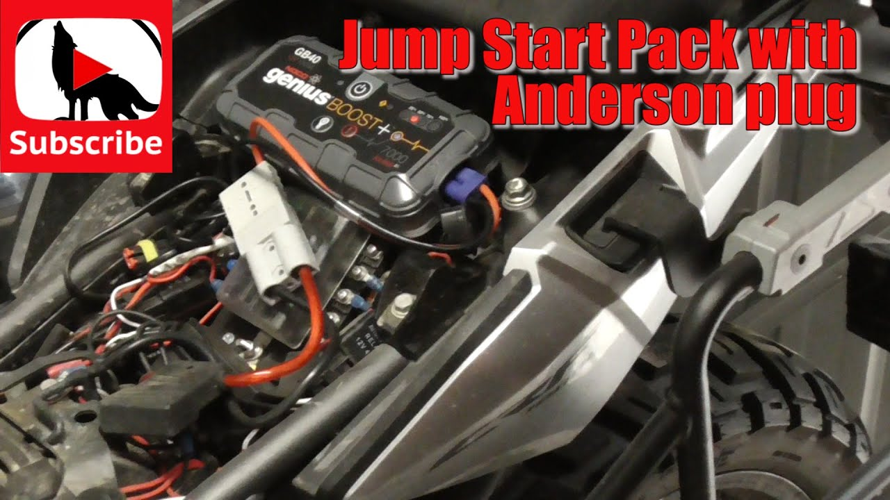 Jump start pack with Anderson plug